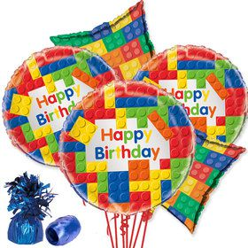 Building Blocks Balloon Bouquet Kit (5 Balloons)