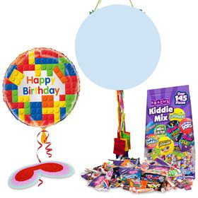 Building Blocks Pull String Economy Pinata Kit