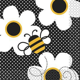 Bumble Bee Beverage Napkins (16 Pack)