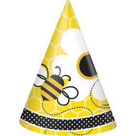 Bumble Bee Party Hats (8 Pack)