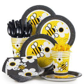 Bumble Bee Party Standard Tableware Kit Serves 8