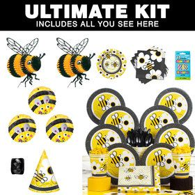 Bumble Bee Party Ultimate Tableware Kit Serves 8