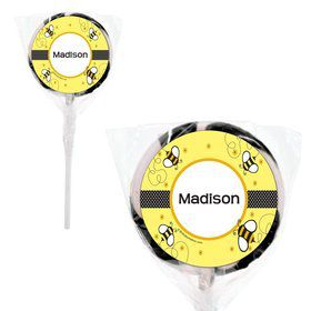 "Bumble Bee Personalized 2"" Lollipops (20 Pack)"