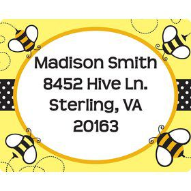 Bumble Bee Personalized Address Labels (Sheet of 15)