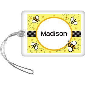 Bumble Bee Personalized Bag Tag (each)