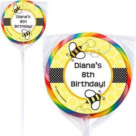 Bumble Bee Personalized Lollipops (pack of 12)
