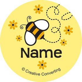 Bumble Bee Personalized Mini Stickers (Sheet of 20)