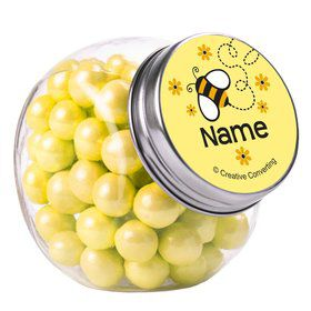 Bumble Bee Personalized Plain Glass Jars (12 Count)