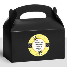 Bumble Bee Personalized Treat Favor Boxes (12 Count)