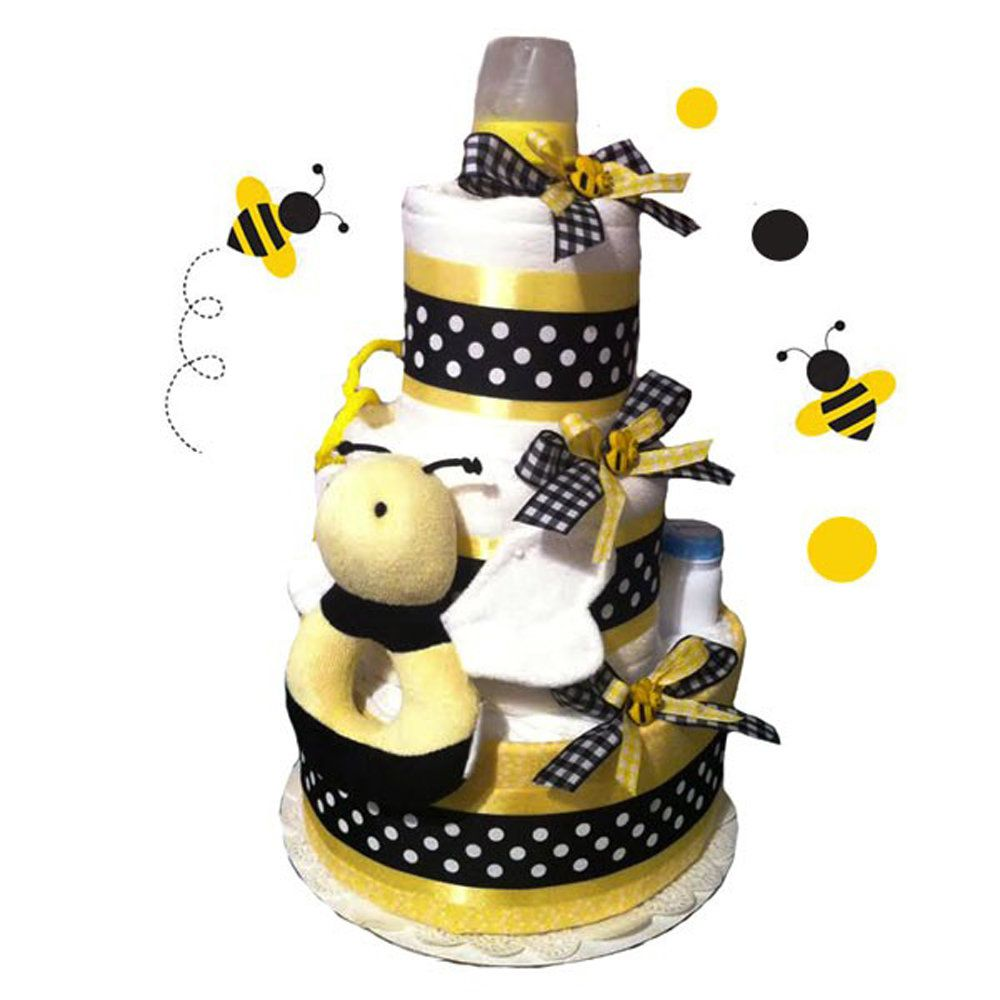 Bumblebee Diaper Cake - Baby Showers Decorations and Party Supplies