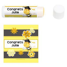Busy Bee Grad Personalized Lip Balm (12 Pack)
