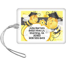 Busy Bee Grad Personalized Luggage Tag (Each)