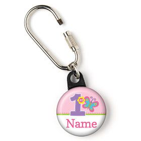 "Butterfly 1st Birthday Personalized 1"" Carabiner (Each)"