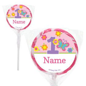 "Butterfly 1st Birthday Personalized 2"" Lollipops (20 Pack)"