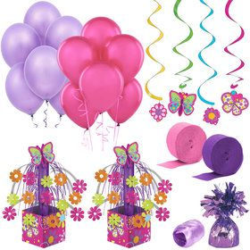 Butterfly Birthday Decoration Kit