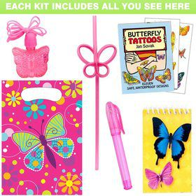 Butterfly Birthday Party Favor Kit
