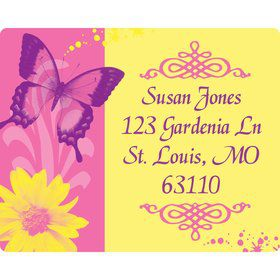Butterfly Birthday Personalized Address Labels (Sheet of 15)