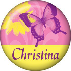 Butterfly Birthday Personalized Mini Button (each)