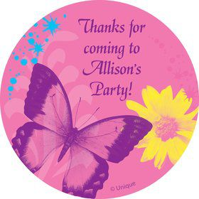 Butterfly Birthday Personalized Sticker (sheet of 12)