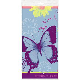 Butterfly Birthday Plastic Tablecover (each)