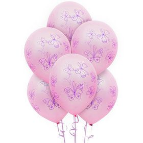 Butterfly Party Latex Balloons (6)