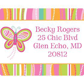 Butterfly Party Personalized Address Labels (Sheet of 15)