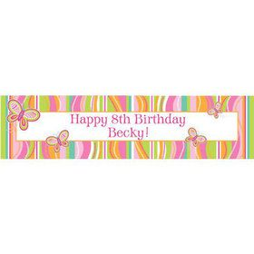 Butterfly Personalized Banner (each)