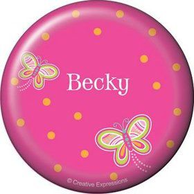 Butterfly Personalized Button (each)