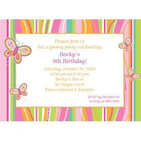 Butterfly Personalized Invitation (each)