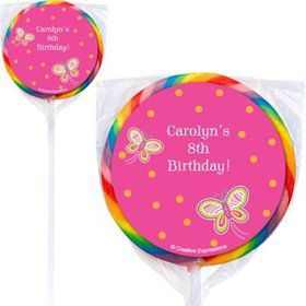 Butterfly Personalized Lollipops (pack of 12)