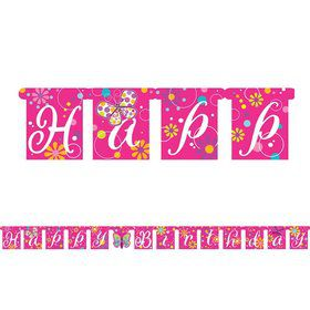 Butterfly Sparkle Jointed Banner (Each)