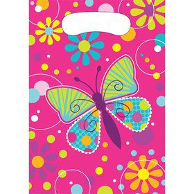 Butterfly Sparkle Loot Favor Bags (8 Pack)