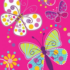 Butterfly Sparkle Luncheon Napkins (16 Pack)