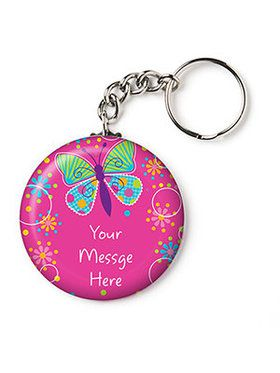 "Butterfly Sparkle Personalized 2.25"" Key Chain (Each)"