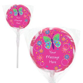 "Butterfly Sparkle Personalized 2"" Lollipops (20 Pack)"