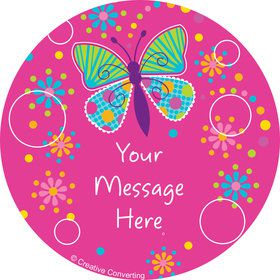 Butterfly Sparkle Personalized Mini Stickers (Sheet of 20)