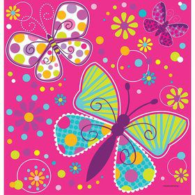 Butterfly Sparkle Plastic Table Cover (Each)