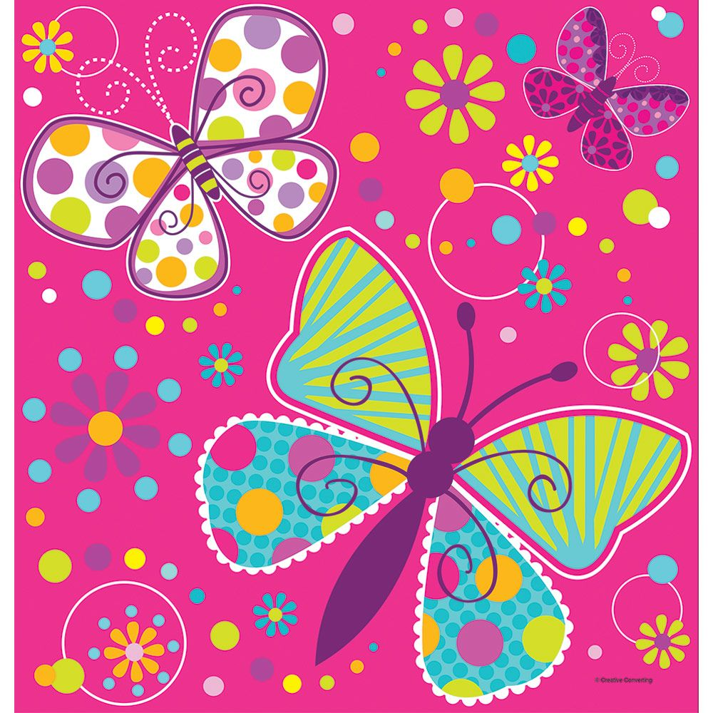Butterfly Sparkle Plastic Table Cover (Each) - Party Supplies