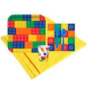 Building Block Party 8 Guest Party Pack