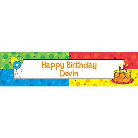 Cake Celebration Personalized Banner (each)