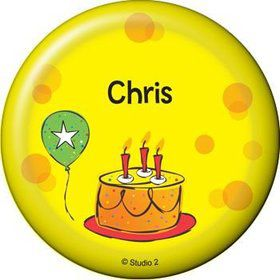 Cake Celebration Personalized Button (each)