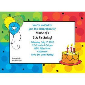 Cake Celebration Personalized Invitation (each)
