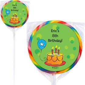 Cake Celebration Personalized Lollipops (pack of 12)