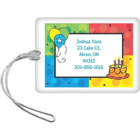 Cake Celebration Personalized Luggage Tag (each)