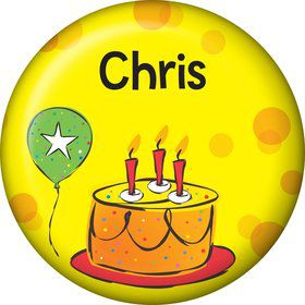 Cake Celebration Personalized Mini Magnet (Each)
