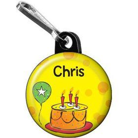 Cake Celebration Personalized Mini Zipper Pull (each)