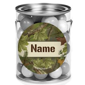 Camo Personalized Mini Paint Cans (12 Count)