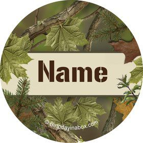 Camo Personalized Mini Stickers (Sheet of 24)