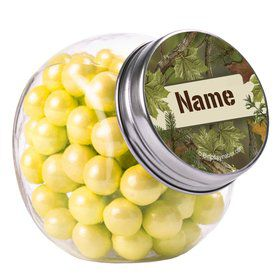 Camo Personalized Plain Glass Jars (12 Count)