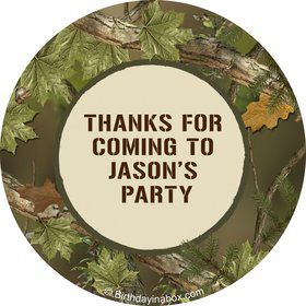 Camo Personalized Stickers (Sheet of 12)